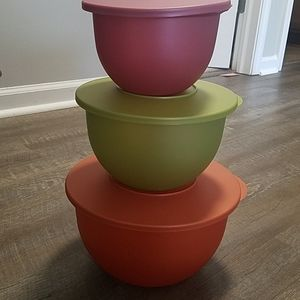 Tupperware Bowls with Lids